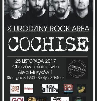 COCHISE / 25.11.2017 / LEŚNICZÓWKA / CHORZÓW / 10 URODZINY ROCK AREA